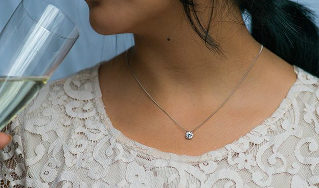 Double Prong Diamond Pendant (Mounting)