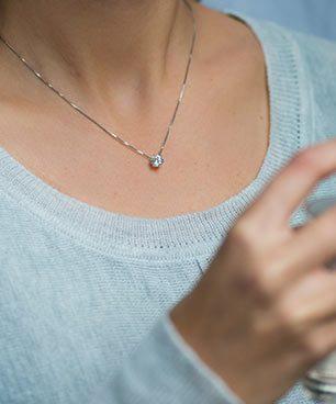 Wire Diamond Pendant