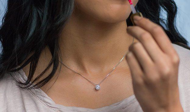 Milgrain Bezel Diamond Pendant (Mounting)