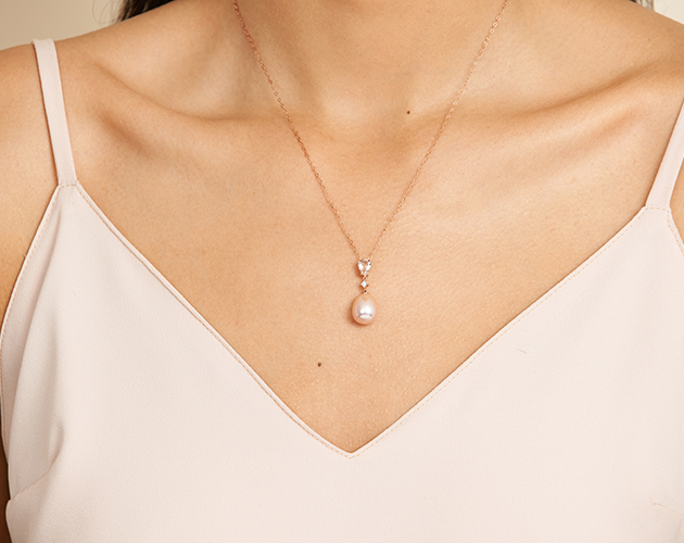 Pink Freshwater Cultured Pearl Necklace by James Allen