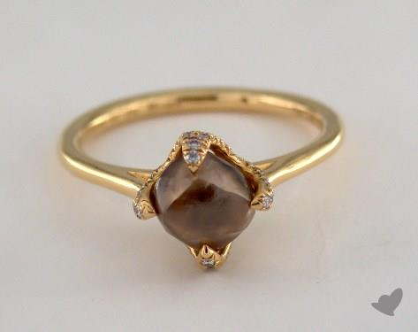 """18K Yellow Gold 2.40ct diamond """"Signature ring"""" featuring 0.18ctw in MicroPave diamonds"""