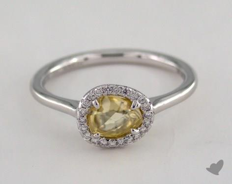 """18K White Gold 0.81ct diamond """"Grace ring"""" featuring 0.09ctw in MicroPave diamonds"""