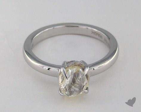 "18K White Gold 1.99ct diamond ""Moderne ring"" featuring 0.00ctw in MicroPave diamonds"