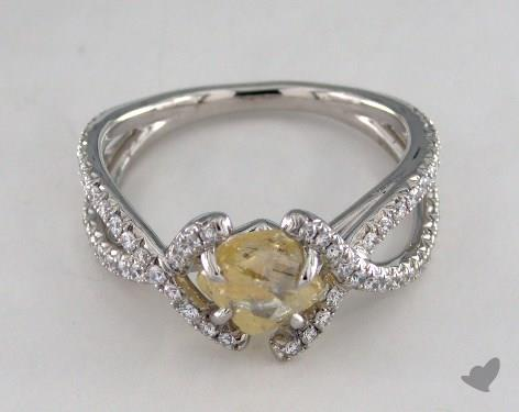 "Platinum 1.44ct diamond ""Unity ring"" featuring 0.41ctw in MicroPave diamonds"