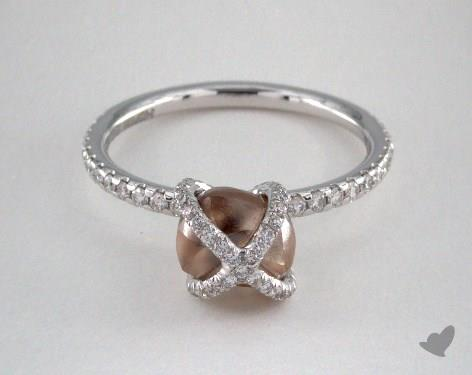 """18K White Gold 2.30ct diamond """"Embrace ring"""" featuring 0.39ctw in MicroPave diamonds"""
