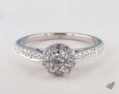 Platinum Royal Halo Classic Cathedral Engagement Ring