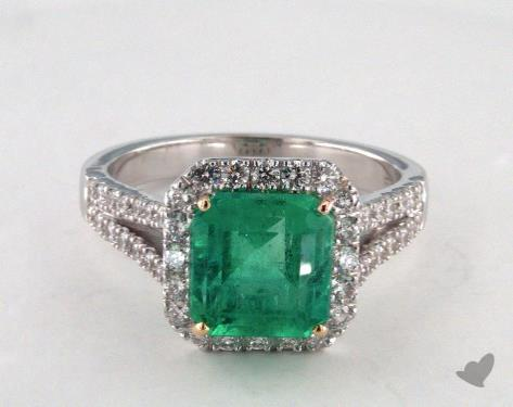 14k two tone - 2.57ct - Green