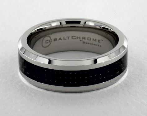 Wedding Band Comfort Fit 8mm Carbon Fiber Carbon Fiber Cobalt Wedding Ring Men/'s Cobalt Ring with Carbon Fiber Inlay