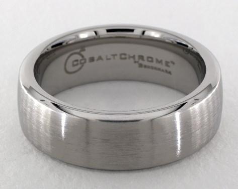 Cobalt chrome™ 7.5mm Comfort-Fit Satin-Finished Design Ring