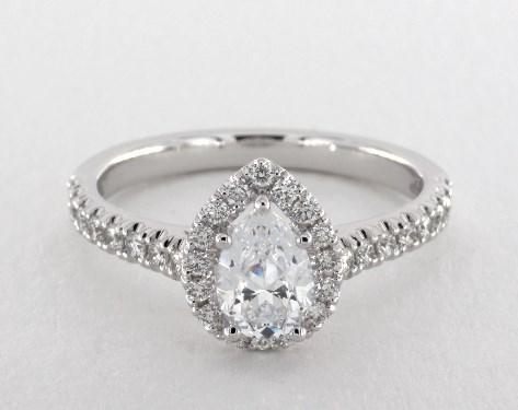 b1d1d0515 Jeff Cooper Tate Pear Shape Engagement Ring | 14K White Gold
