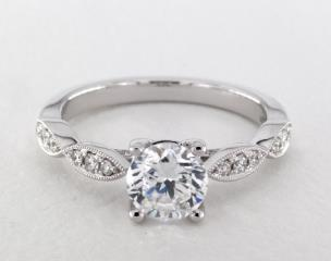 14K White Gold Livia Engagement Ring by Jeff Cooper