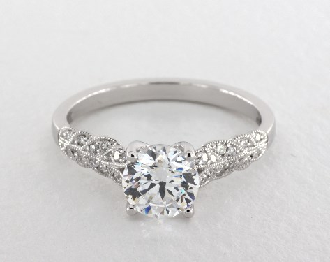 14K White Gold Lola Engagement Ring by Jeff Cooper