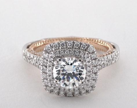 Verragio Venetian Engagement Ring 18k White Gold And