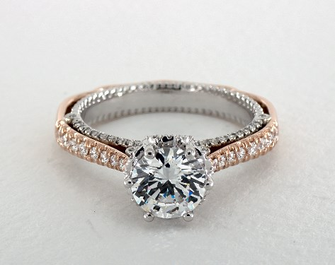 verragio wedding rings engagement rings verragio 18k white gold and gold 8257