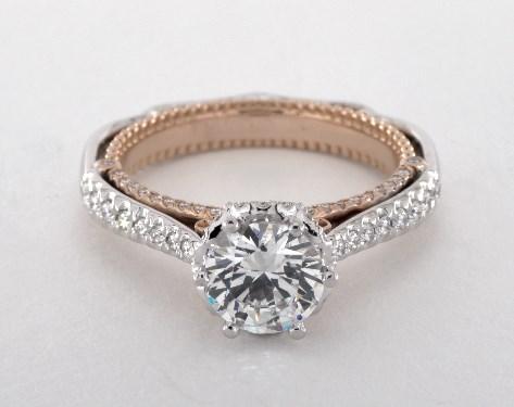 18K White Gold18K White and Rose Gold Venetian Engagement Ring by Verragio