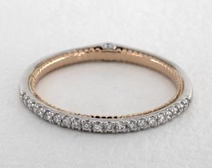 18K White and Rose Gold Couture Wedding Band