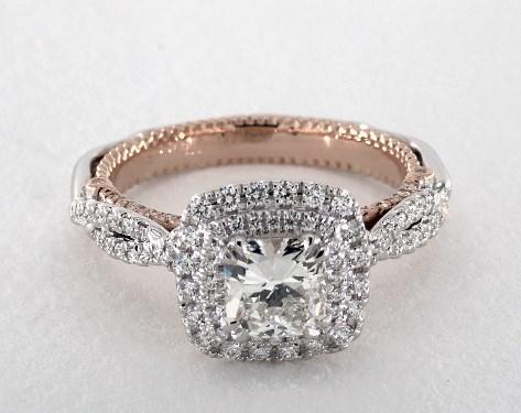 Engagement Rings Verragio Platinum18k Rose And White