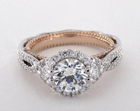 Verragio Venetian Engagement Ring Platinum And Rose Gold
