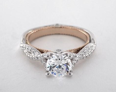 Verragio Couture Engagement Ring Platinum And Rose Gold