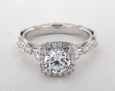 Verragio Parisian Engagement Ring Platinum And Rose Gold