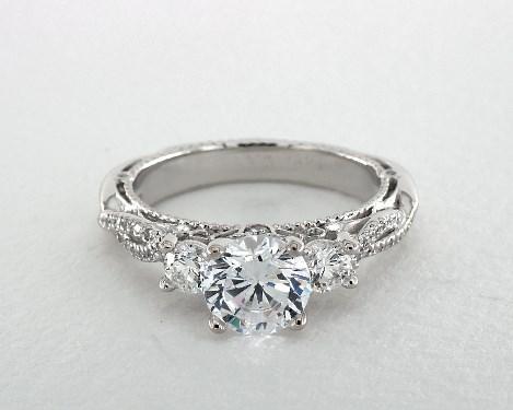 Verragio K White And Rose Gold Diamond Engagement Ring Setting