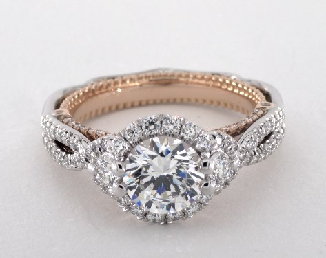 c71c20953 Verragio Venetian Engagement Ring | 14K White Gold and Rose Gold
