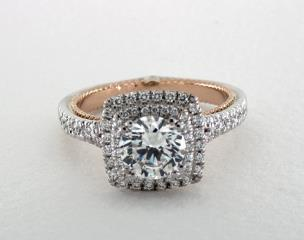 14K White Gold and Rose Gold Couture Engagement Ring by Verragio