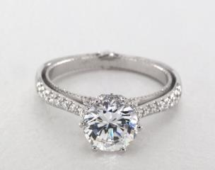 14K White Gold Couture Engagement Ring by Verragio