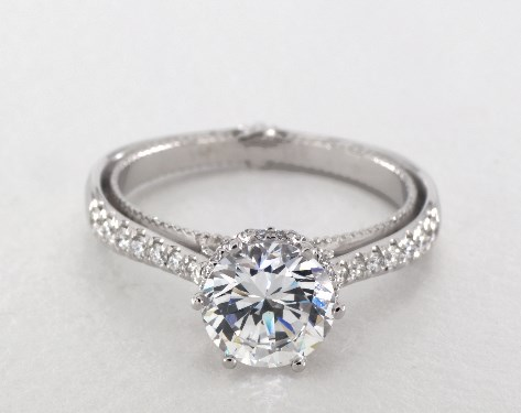 Verragio Couture Engagement Ring 14k White Gold