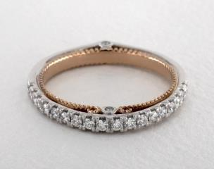 14K White Gold and Rose Gold Couture Wedding Band