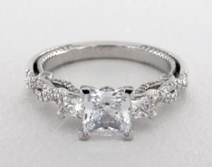 14K White Gold Insignia Engagement Ring by Verragio