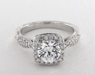 14K White Gold Classic Engagement Ring by Verragio