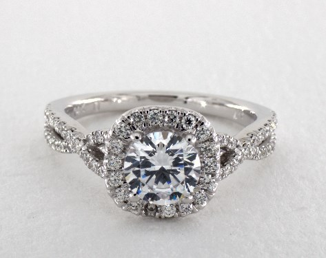 Martin Flyer Micro Pave Infinity Halo Engagement Ring