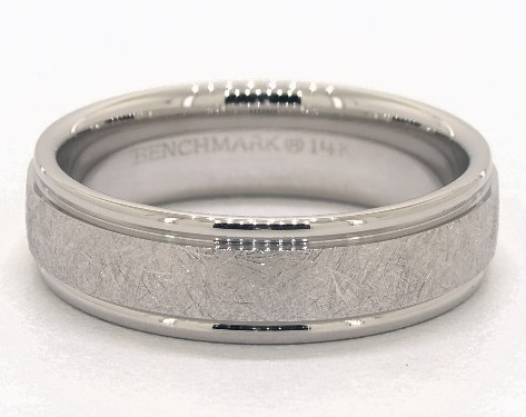 Wedding Rings Mens Carved 14k White Gold Swirl Finish Band Item 55215