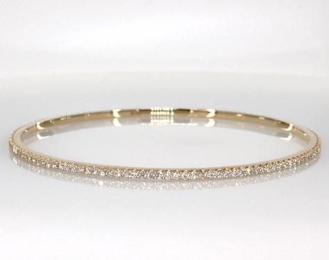 14K Yellow Gold Pave Diamond Bangle ( 2 CTW.)
