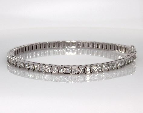 fine jewelry bracelets 14k white gold channel set diamond