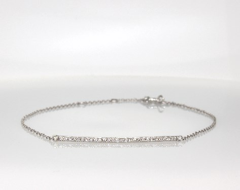 Fine Jewelry Bracelets 14k White Gold Diamond Bar Bracelet 1 6 Ctw Item 55805