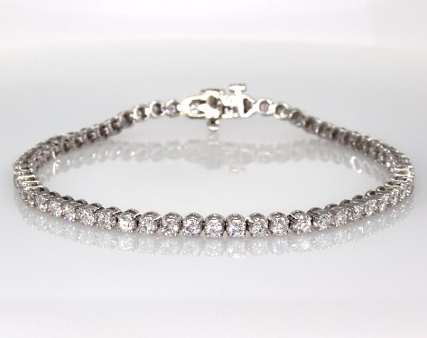 Fine Jewelry Bracelets 14k White Gold Diamond Tennis Bracelet 250 Ctw Item 55811
