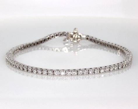 Bracelets Diamond Bracelets 14k White Gold Diamond Tennis Bracelet
