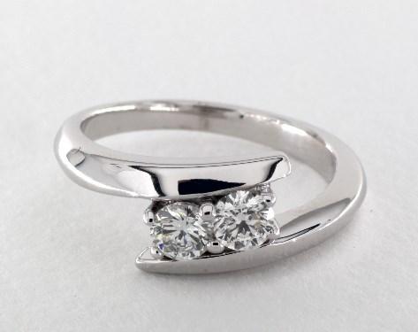 Bypass Two Stone Diamond Ring 14K White Gold James Allen 17660W14