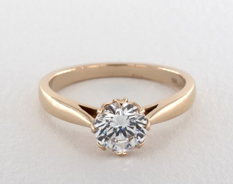 14K Rose Gold Classico Single Shank Engagement Ring Style#: CL140 by Danhov