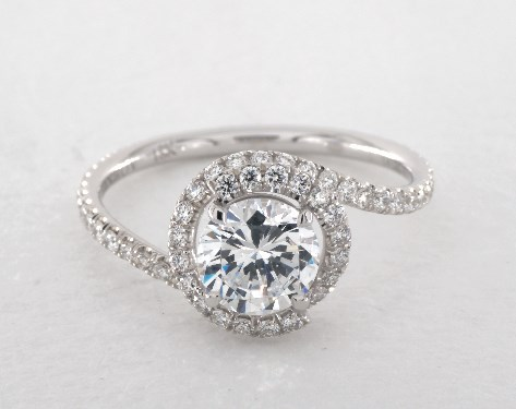 14K White Gold Abbraccio Swirl Engagement Ring Style#: AE100 by Danhov