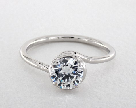 14K White Gold Abbraccio Swirl Engagement Ring Style#: AE136 by Danhov