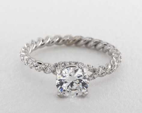 14K White Gold Eleganza Braided Engagement Ring Style#: ZE105 by Danhov