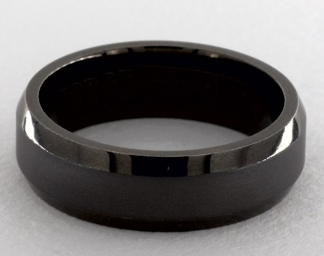 Wedding Rings Mens Alternative Metals Tantalum 7mm Comfort Fit Beveled Edge Band Item 58214