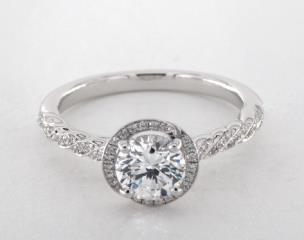 18K White Gold Luna Engagement Ring by Jeff Cooper