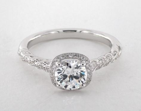 Jeff Cooper Lisa Engagement Ring  14k White Gold  53365w14. Famous Engagement Rings. Diamond Ring Engagement Rings. Non Conventional Engagement Rings. Pinterest Rings