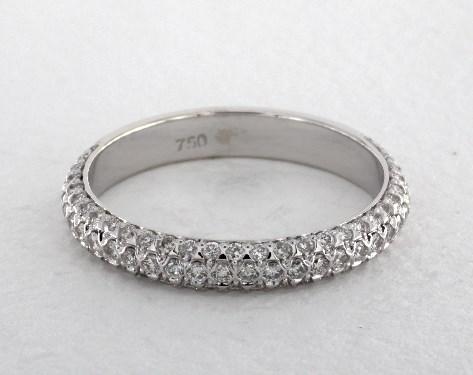 Wedding Rings Matching Bands Platinum Diamond Encrusted Band Item 59295