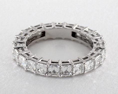 Platinum Asscher Shape Diamond Eternity Band (3.00 CTW.)