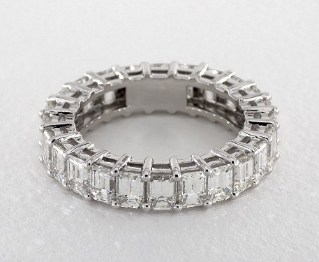 emerald rings cut eternity band ring and outstanding bands diamond glamorous